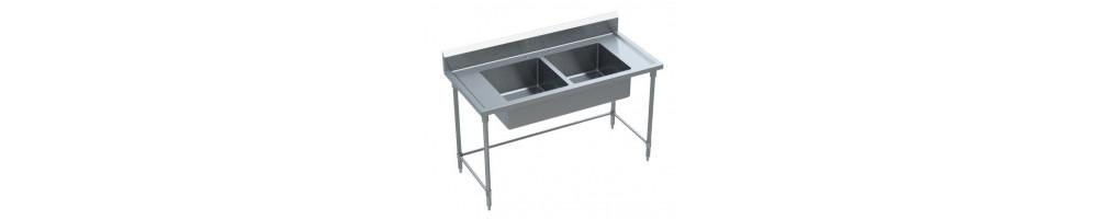 مغاسل بأحواض مقسّمة من الفولاذ المقاوم للصدأ