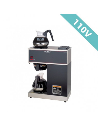 (VPR BLACK)  محضّرة القهوة بسعة ١٢ كوب مع سخانين  وبقوة ١١٠ فولت