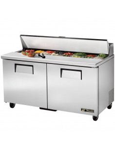 True TSSU-60-16 Two Door  Sandwich / Salad Prep Refrigerator