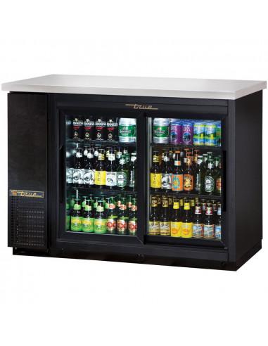 True TBB-24-48G 220/60/1 Glass Door Back Bar Refrigerator with LED Lighting