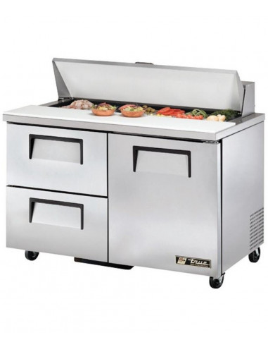 True TSSU-48-12D-2  One Door, 2 Drawers  Sandwich Salad Prep Refrigerator