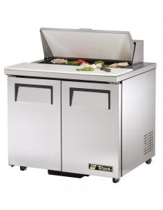 True TSSU-36-8-220V Two Doors Sandwich Salad Refrigerator