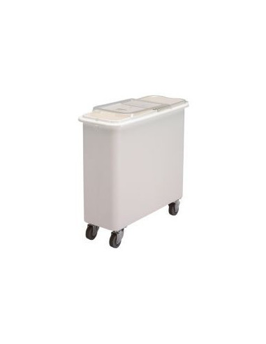 Cambro IBSF27148  White Flat Top Ingredient Bin with Clear Lid