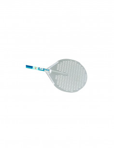 Gi-Metal A-41F Aluminum Round Perforated Pizza Peel 41 cm