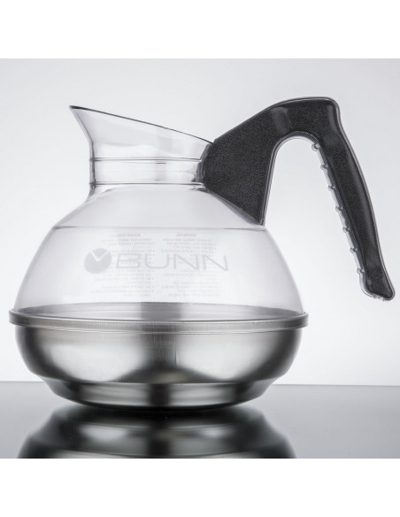 Bunn Easy Pour Stainless Steel Base Glass Decanter