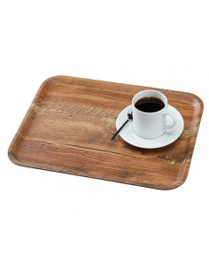 Cambro Madeira Laminated Trays With Textured Wood Surface