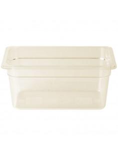 """Cambro H-Pan 1/3 Size Amber High Heat Food Pan - 6"""" Deep"""