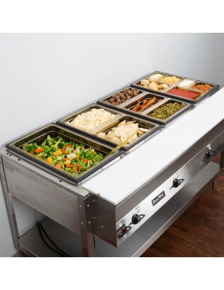 """وعاء حراري للأطعمة سعة 3.9 لتر وعمق 2.5"""" لدرجات الحرارة العالية"""