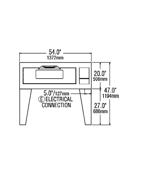 (DO54B) فرن الأدراج الكهربائي