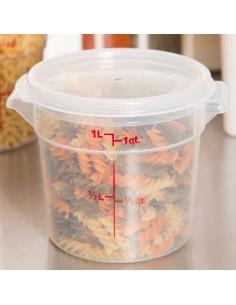 غطاء شفاف مستدير لأوعية تخزين الطعام كاموير بسعة 1 كوارت