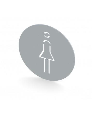 Miran Stainless steel Women Toilet Sign