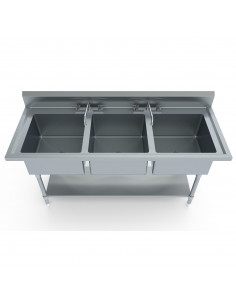 Miran SS Triple Compartment Sink Table