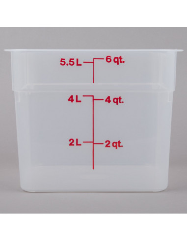 Cambro  6 Qt. Square Food Storage