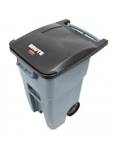 Rubbermaid FG9W2700GRAY Brute 50 Gallon Gray Rollout Trash
