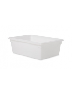 علبة لحفظ الطعام من البولي إيثيلين الأبيض بمقاس 26 × 18 × 9