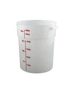 Cambro RFS22148 22 Qt. Round White Food Storage Container
