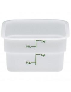 Cambro 2SFSP148 2 Qt. White Poly CamSquare® Food Storage