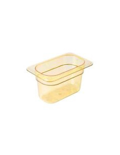 Cambro 94HP150 H-Pan™ 1/9 Size Amber High Heat Food Pan - 4""