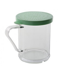 Cambro 96SKRF135 Camwear 10 oz. Polycarbonate Shaker with Green