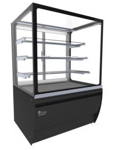 Brodan SOUDA-SRDC-900-BLK Refrigerated Square Display Case Black Color