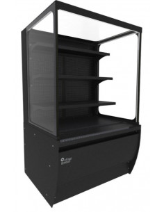 Brodan SOUDA-SGNG-900-BLK Refrigerated Square Display Grab And GO - Merchandising Refrigerator Black Color