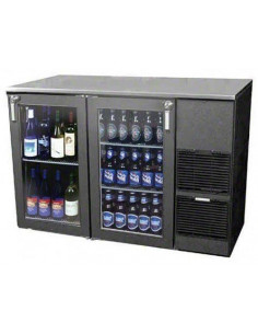 Glastender Two-Zone Refrigerated Back Bar Cabinet