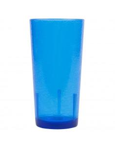 Cambro D16608 Del Mar 16 oz. Sapphire Blue Plastic Tumbler
