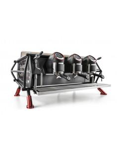 Sanremo Cafe Racer Naked Black Red Three groups Espresso Machine