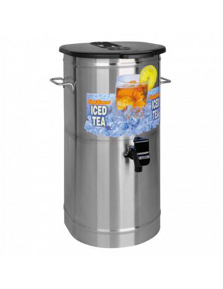 Bunn TDO-4 4-Gallon Oval Iced Tea Dispenser with Brew-Through Lid