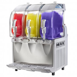 SPM IPRO3 Mechanical Slush Machine with Three Bowls, 33 Liters