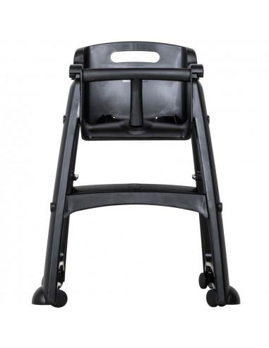 (FG780508BLA) كرسي  الأكل المرتفع للأطفال من ربرميد، باللون الأسود