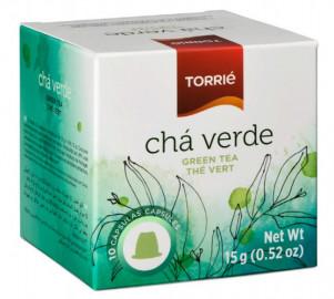 علبة كبسولات الشاي الأخضر تحتوي على 10 كبسولات مناسبة لآلة نسبريسو من توري