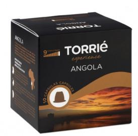 علبة كبسولات قهوة أنجولا تحتوي على 10 كبسولات مناسبة لآلة نسبريسو من توري