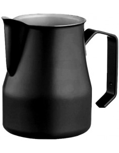 Motta Stainless Steel Professional 750 ml Frothing Pitcher, Black