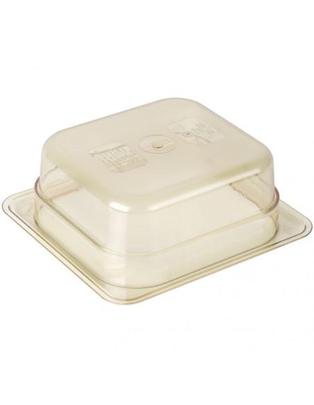 """وعاء بمقاس 1\6 وارتفاع2 1\2"""" للأطعمة لدرجات الحرارة العالية باللون الكهرماني من كامبرو"""