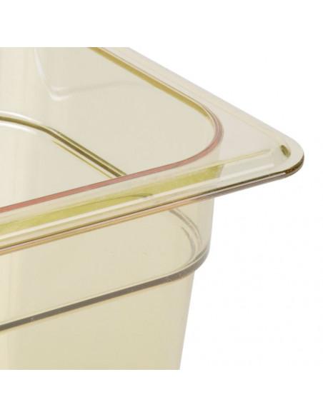 """وعاء بمقاس 1\4 وارتفاع 6"""" للأطعمة لدرجات الحرارة العالية باللون الكهرماني من كامبرو"""