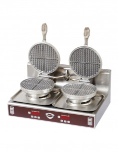 [USED] Wells WB-2 Counter Top 2 Pans Waffle Maker