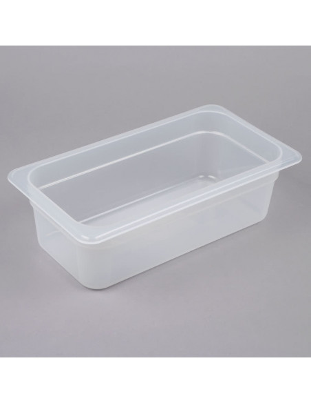 "Cambro 34PP190 1/3 Size Translucent Food Pan - 4"" Deep"