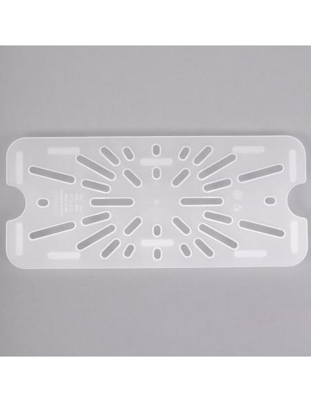 Cambro 30PPD190 1/3 Size Translucent Polypropylene Drain Tray