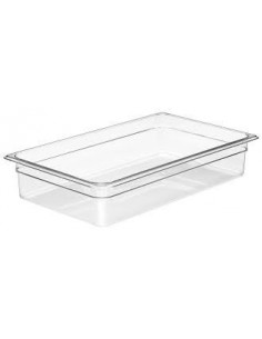 "Cambro 14CW135 Camwear Full Size 4"" Deep Clear Food Pan"
