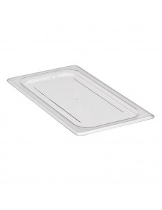 Cambro 30CWC135 Camwear 1/3 Size Clear Polycarbonate Flat Lid