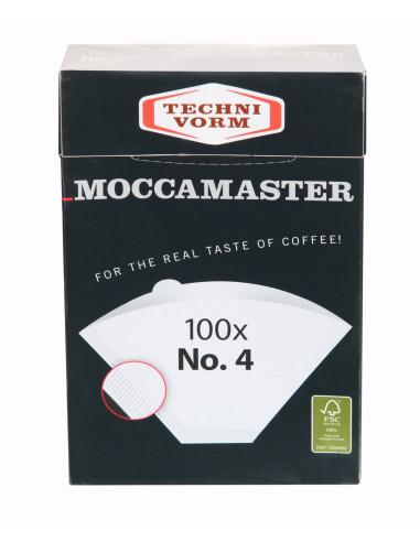 أوراق مصفية للقهوة مقاس ٤ من موكا ماستر