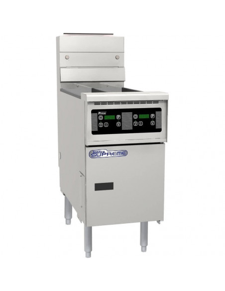 Pitco SG14TS-D Split Pot Gas Floor Fryer with Digital Controls