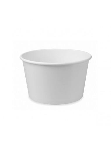 أكواب آيسكريم بيضاء من هوتاماكي -٥٠ أونصه