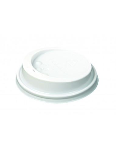 غطاء بلاستيكي أبيض من لكوب بمقاس ٩٠ أونصه