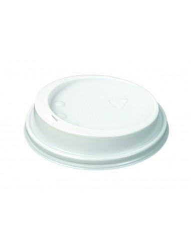 غطاء بلاستيكي أبيض من هوتاماكي لكوب بمقاس ١٢–١٦ أونصه