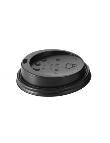 Black LID FOR 9OZ CUPS