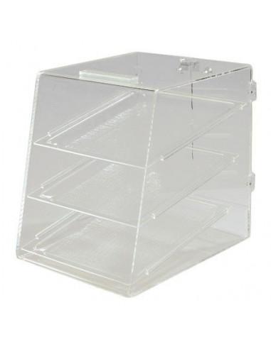 حاوية عرض المخبوزاتSPD30007 شفافة ومكونة من ثلاث طوابق من كارلايل