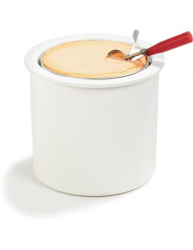 موزع الآيس كريم CM101202 شفاف/أبيض مزود بغطاء من كارلايل
