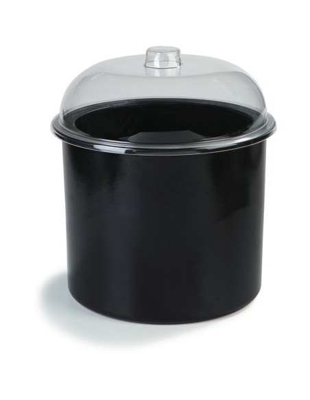 Carlisle CM101203 Black 3 Gallon Coldmaster Ice Cream Cold Crock with Lid